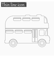 Double decker bus icon Style thin line vector image vector image