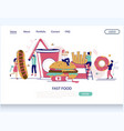 fast food website landing page design vector image