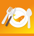 fish silhouette sea food menu vector image
