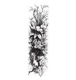 flowers in tree in this design vintage engraving vector image vector image