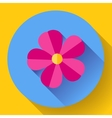 Frangipani flower icon Nature symbol - vector image