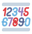 funky elegant rounded numbers collection made vector image