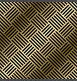 geometric striped pattern - seamless luxury vector image vector image