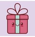 gift box kawaii icon image vector image