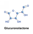 Glucuronolactone structural connective tissue vector image vector image
