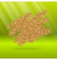 Gold glitter bright on green background vector image vector image