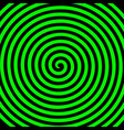green black round abstract vortex hypnotic spiral vector image