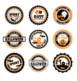 Halloween themed badges vector image vector image