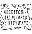handwritten brush font vector image