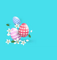 happy easter colourful eggs with different vector image vector image