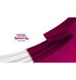 happy qatar national day vector image vector image