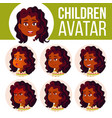 indian girl avatar set kid hindu asian vector image vector image