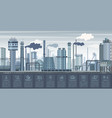 industrial infographics with factories and plants vector image