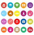 Insurance related flat icons on white background vector image