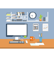 Interior office roomFlat design style vector image