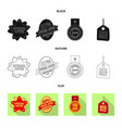 isolated object emblem and badge symbol vector image vector image