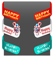 left and right side signs - happy birthday vector image
