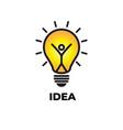 light symbols ideas genius creative thinking vector image vector image