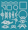 marine rope knot ropes frames cordage knots vector image vector image