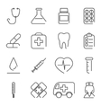 Modern Line Medical Treatment Icons and Symbols vector image vector image