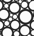 monochrome hole seamless pattern vector image