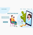 online doctor appointment little patient with vector image
