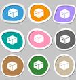 packaging cardboard box symbols Multicolored paper vector image vector image
