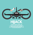 Plane Hijack Concept Abstract Design vector image vector image