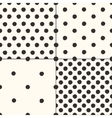 Polka dot seamless patterns set vector image vector image