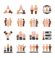Population skin tone icon set