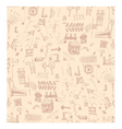 scribbles pattern vector image vector image