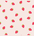seamless pattern with strawberry summer berry vector image vector image