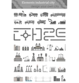 set maps for industrial city vector image