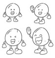 set of egg cartoon vector image vector image