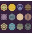 Set of Twelve Round Geometric Mandala kaleidoscope