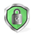 shield with lock vector image