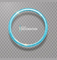 shining blue ring abstract glowing round frame vector image