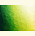 simple bio green triangles background gradient vector image