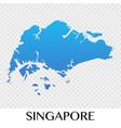 Singapore map in asia continent design
