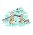 sketch tower bridge in london vector image vector image