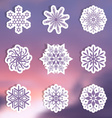 Snowflake labels vector image vector image