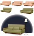 Sofa green and pink vector image