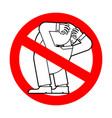 stop head up ass ban your problem is obvious red vector image vector image