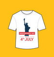 t-shirt with liberty statue american independence vector image vector image