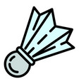 training shuttlecock icon outline style vector image vector image