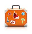 vintage suitcase vector image