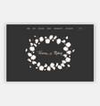 wedding salon internet shop floral landing page vector image vector image