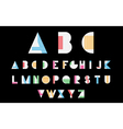 White alphabetic font vector image vector image