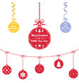 colored christmas ball christmas ornaments vector image
