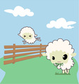 little sheep vector image